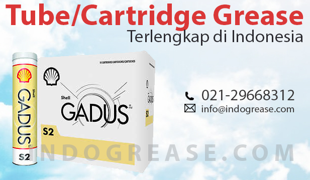 Shell Gadus grease Tube Cartridge 400 gr Indonesia